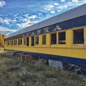 An old train car on the Nenana river in the small town of Nenana, about 1 1/2 hours from Fairbanks. I definitely had an 'Into The Wild' moment. Turns out Chris McCandless was not far from here when he made an abandoned city bus his Alaskan home. #nenana #alaska #intothewild #thelastfrontier
