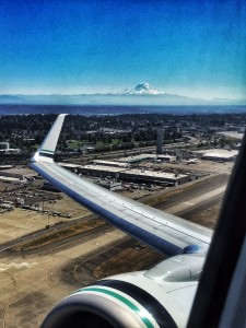 Mt. Rainier from Alaskan Airlines flight.